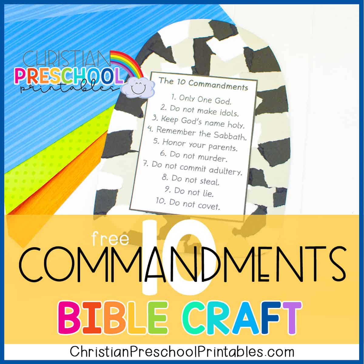 Ten Commandment Bible Printable