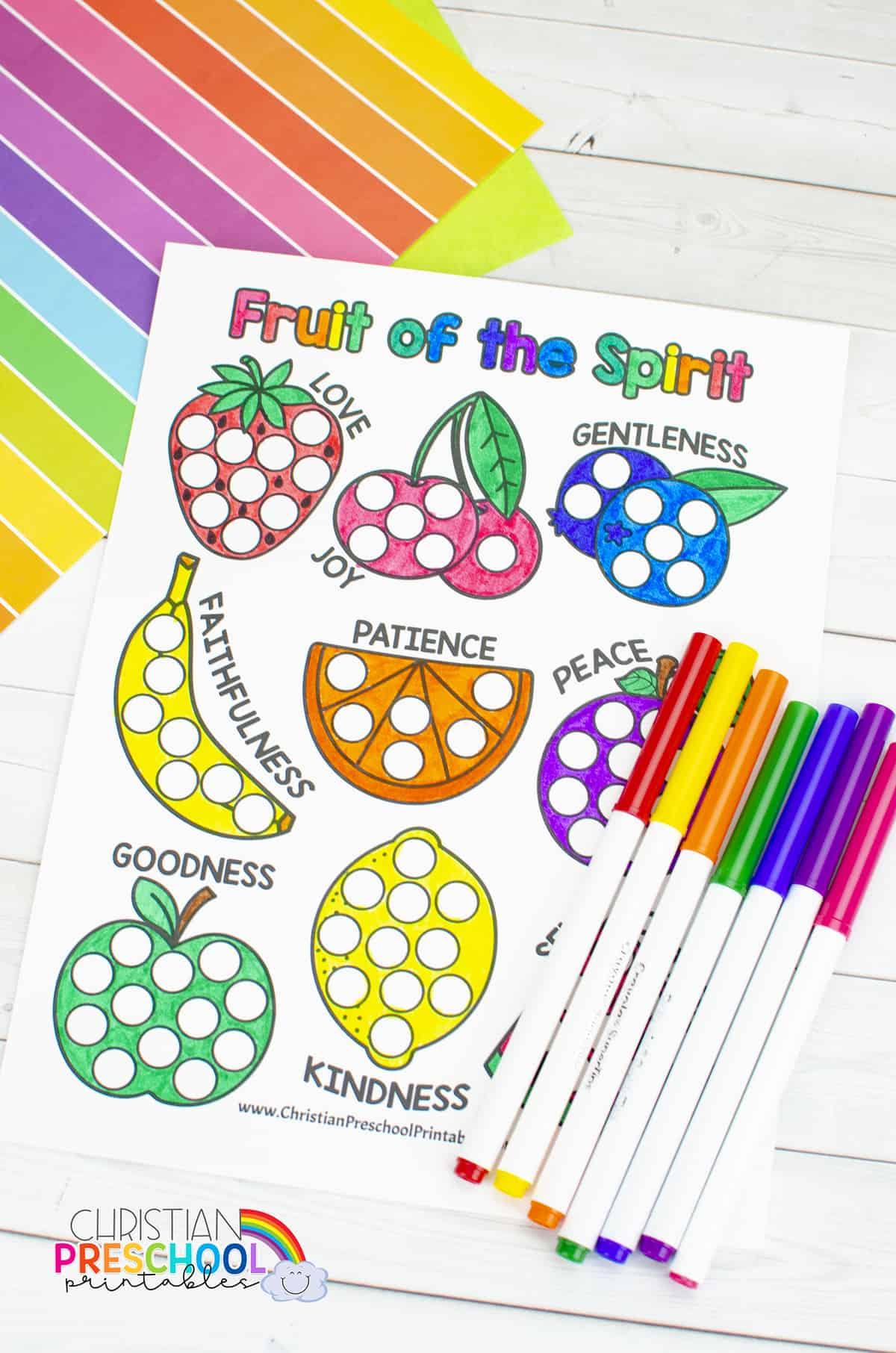 Fruitofhtespiritprintablescoloringpage