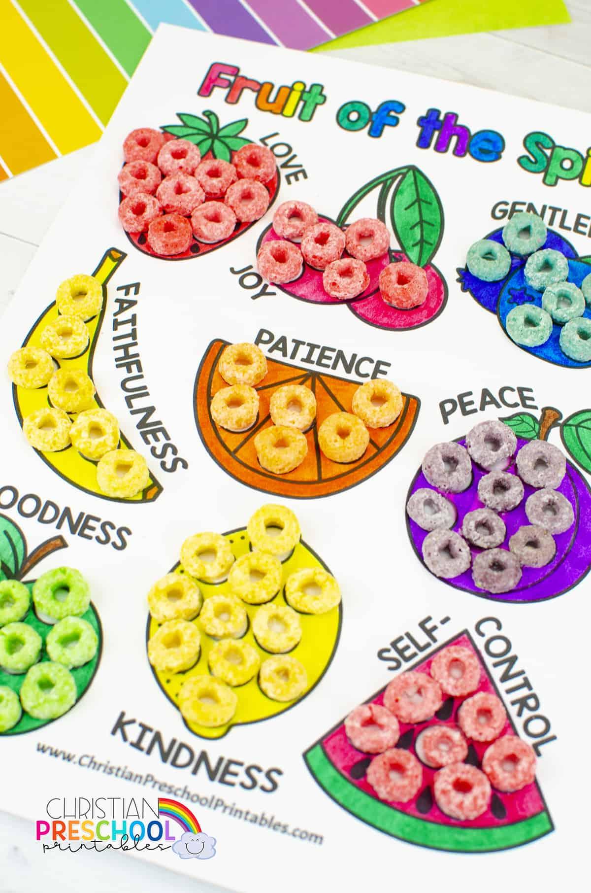 Fruitofthespiritprintablecoloringpage