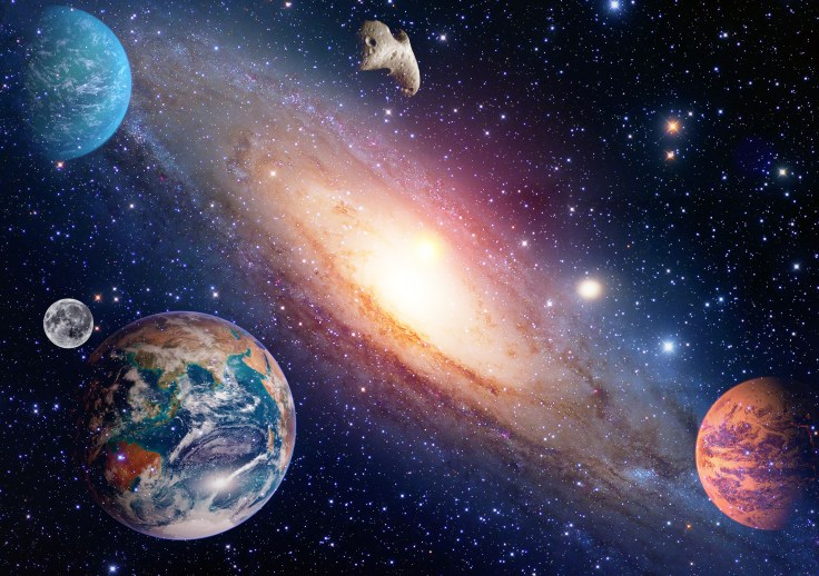 Astrology astronomy earth moon space big bang solar system planet creation. Elements of this image furnished by NASA.