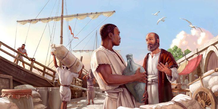 The apostle Paul preaches to a man