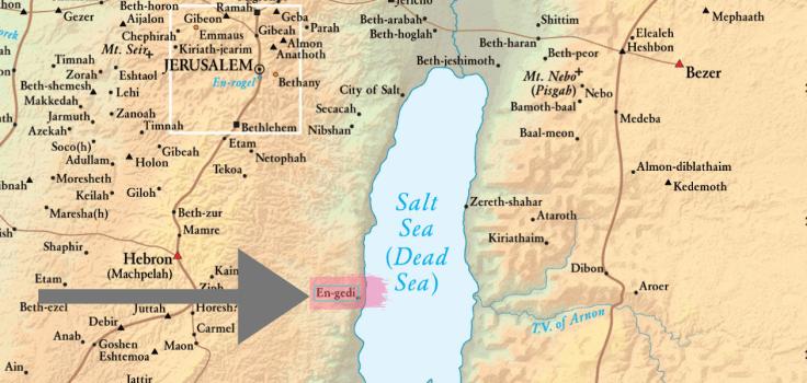 En-Gedi Map