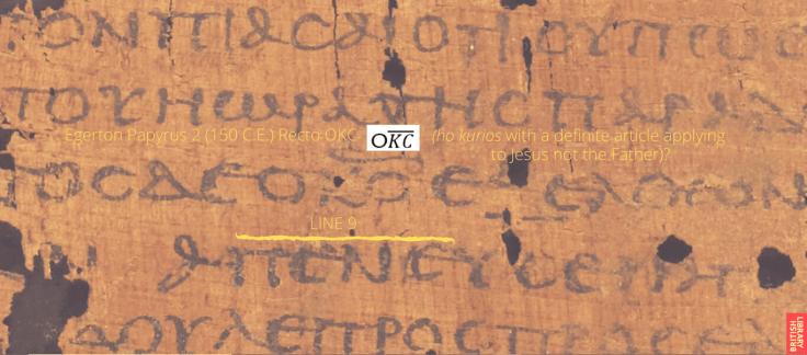 Egerton Papyrus 2 Recto OKC