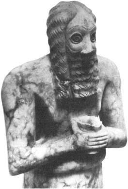 A Sumerian priest from Tell Asmar.