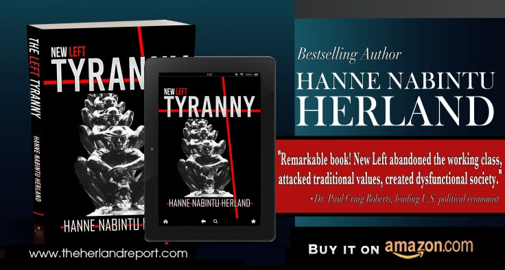 2020 LARGE without face FEATURE 3 New Left Tyranny Banner Blue