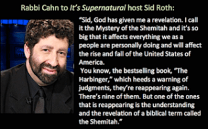 "Jonathan Cahn warns of pending ""Shemitah"" judgments coming to America on Sid Roth's television program, It's Supernatural"