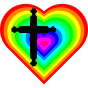 Cross and rainbow