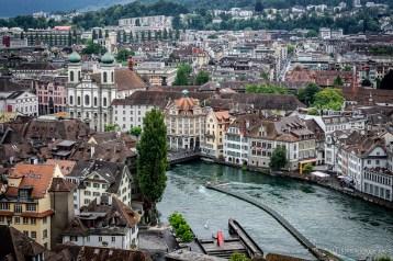 Vogelschau auf Luzern