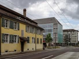 Fassadenreihe im Bieler Uhrenquartier