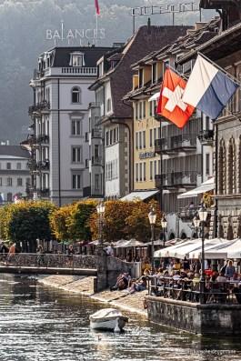 Spätsommernachmittag am Reussquai in Luzern