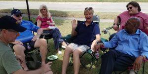 Block party in Denton, TX