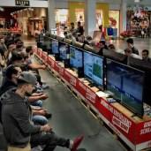 A 'virtual FIFA football' tournament - no corruption :-) at a mall near Zofingen