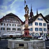 The Thut fountain near Zofingen's city hall