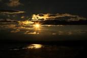 Sunset over Spioenkop dam ...