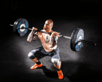 Front squats can help with back pain