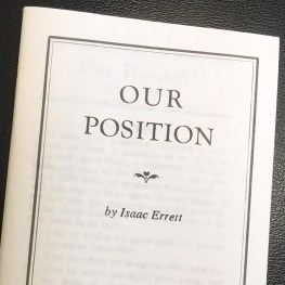 'Our Position' Revisited