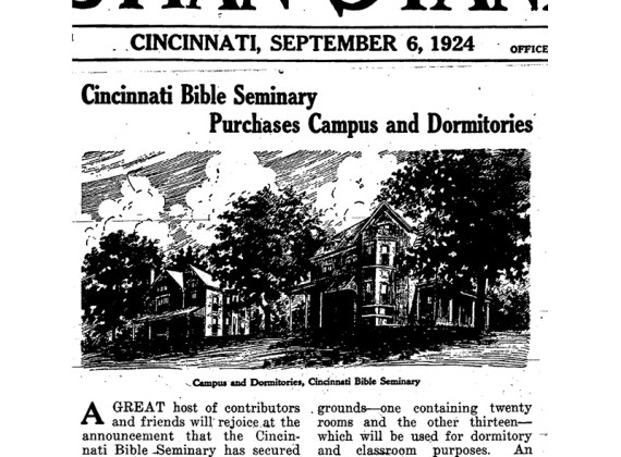 Cincinnati Christian University Started with a Merger