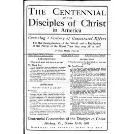 """""""The Sovereignty of Jesus"""" (Keynote Sermon at the Centennial Convention)"""