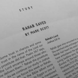 Lesson for August 2, 2020: Rahab Saved (Joshua 2:1-16; 6:15-25)