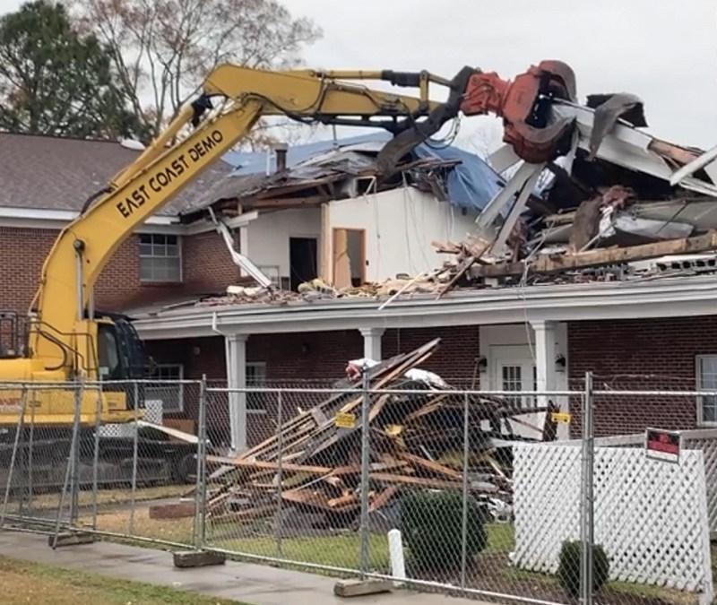 MACU's Heritage Hall Undergoes Partial Demolition