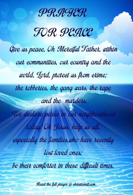 And My Family Comfort Strength Prayers