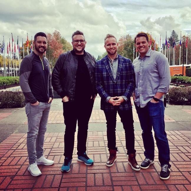 Jeremiah Johnston, Pastor Luke Reid, and MOTB at Nike Headquarters