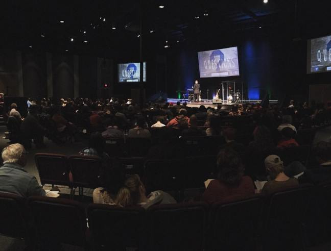 Worship service at Resound Church in Portland, OR