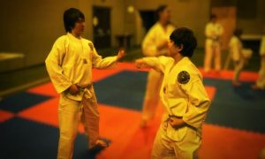 Kids learn Self Defence in Taekwondo