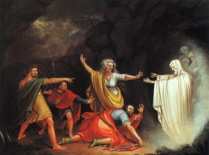 Saul and the Witch of Endor. Source: https://commons.wikimedia.org/wiki/File:Mount-saul_and_the_witch_of_endor.jpg