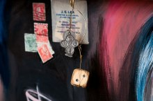 Photo of original painted mixed media work Your Bartender #10 by Christie Mellor