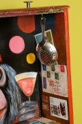 Photo of original painted mixed media work Your Bartender #11 by Christie Mellor