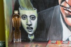 Photo of original painted mixed media work Your Bartender #12 by Christie Mellor