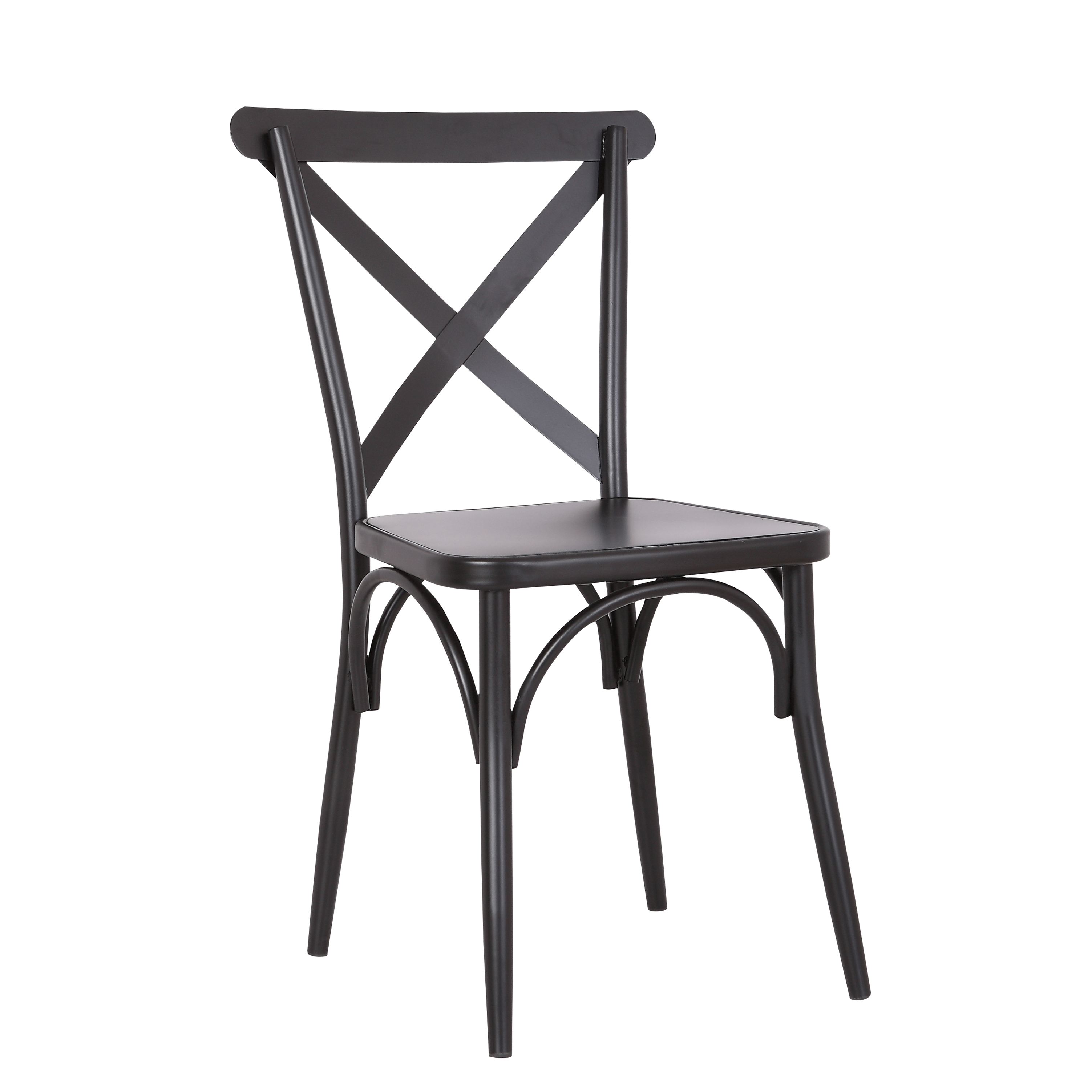 Rustic Cross Back Metal Modern Farmhouse Dining Chair Set Of 2 Christies Home Living