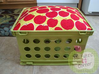 DIY crate seat tutorial for classroom libraries