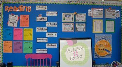 Elementary reading strategy bulletin board