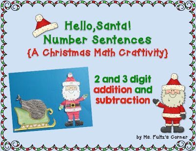 http://www.teacherspayteachers.com/Product/Santa-Math-Craftivity-Addition-and-Subtraction-Number-Sentences-1013165