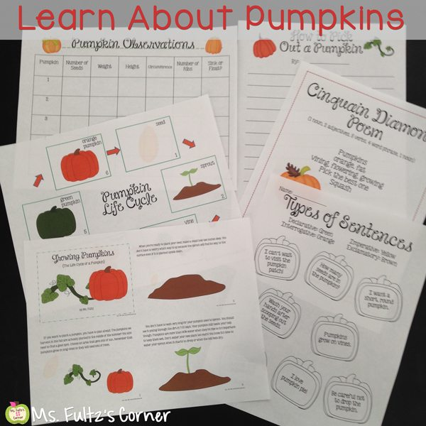 http://www.teacherspayteachers.com/Product/Pumpkin-Unit-for-Big-Kids-336258
