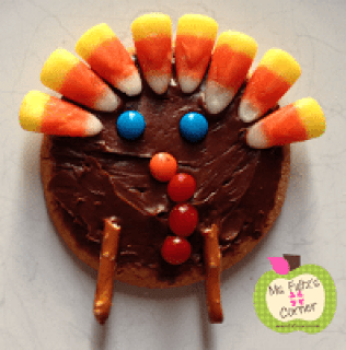 Follow directions to create a cute turkey snack