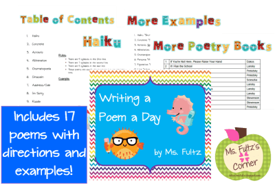 Learn a variety of poems in this packet that's perfect for National Poetry Month in April