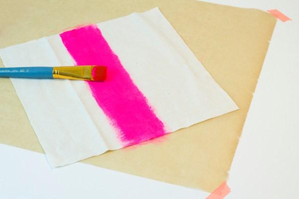 Stoffservietten bemalen pink klein