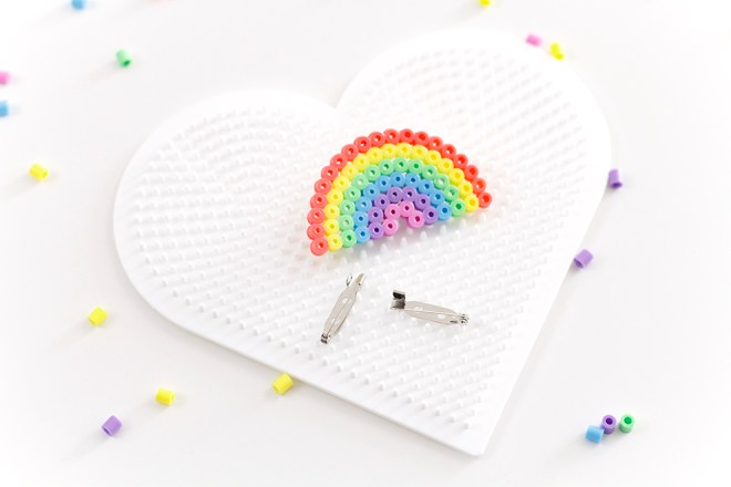 DIY Bügelperlen Broschen   Blogparade Just Bead It
