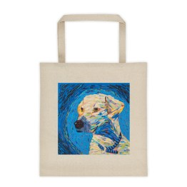 Van Gogh Dog Liberty Tote 2-sided print