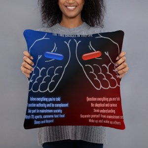 Red or Blue Pill Pillow