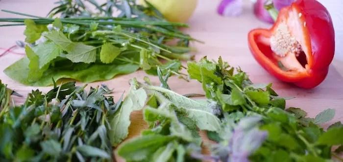 Organic Food Prepped on a Cutting Board