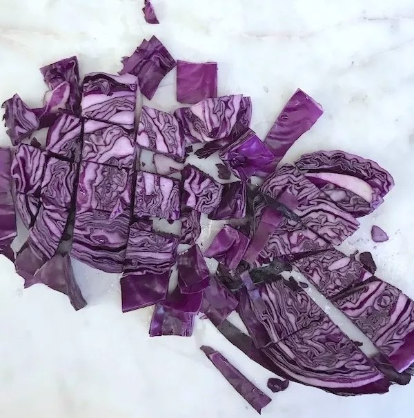 Chopped red cabbage Christina Carlyle