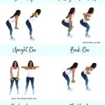 Back fat workout for Women being done by Trainer Christina Carlyle