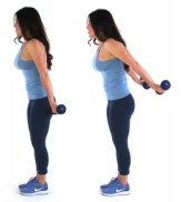 Tricep Pulses Bat Wing Exercise done by Christina Carlyle