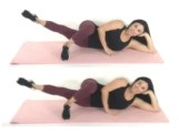 Inner Tight Pulses thigh exercise being done by trainer Christina Carlyle