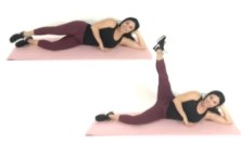 Lying out Thigh Leg Lift Outer thigh exercise being done by Christina Carlyle