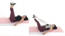 Thigh Fly thigh exercise being done by Christina Carlyle
